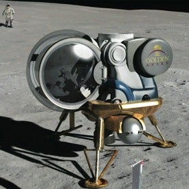 Artist's rendition of Golden Spike lunar lander