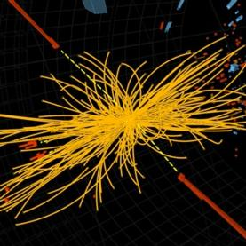 Candidate Higgs signal in CMS detector at Large Hadron Collider
