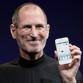 steve jobs on medical leave with iphone