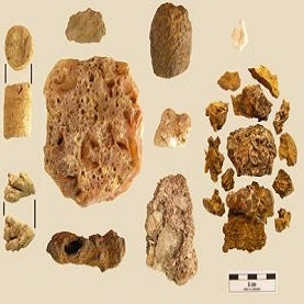 Carbon dating stone tablet and chisel 1