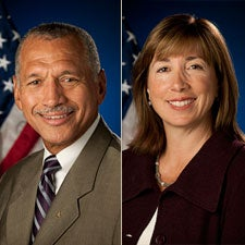 Charles Bolden and Lori Garver