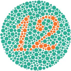 Ishihara color perception