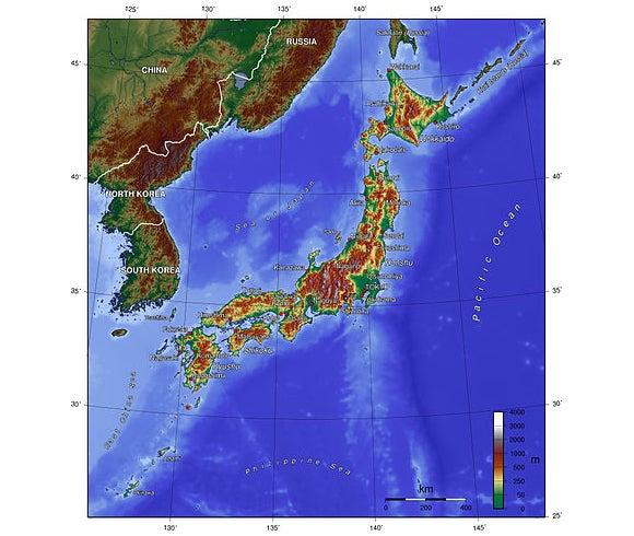 Fukushima Earthquake Moved Seafloor Half A Football Field - Japan map fukushima
