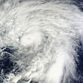 Hurricane Sandy Over Bahamas