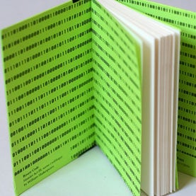 Lingo Notebooks Screenprinted endpapers in Binary code