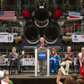 NASA administrator Charles Bolden at Kennedy Space Center