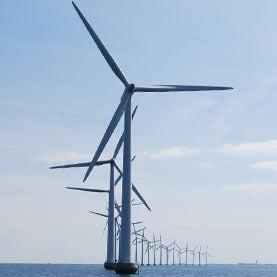 Middelgrunden Offshore Wind Farm, Copenhagen, Denmark