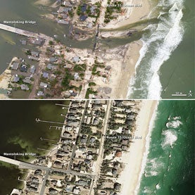 New Jersey coast line after hurricane sandy
