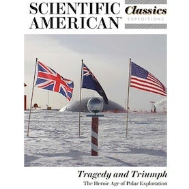 Cover of issue showing South Pole station