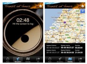 transit of venus, venustransit app, venus, sun