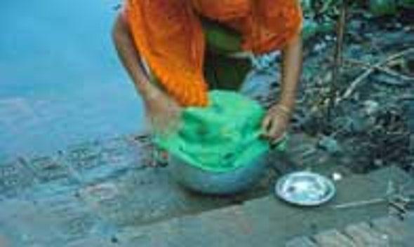 Cloth Filters Combat Cholera