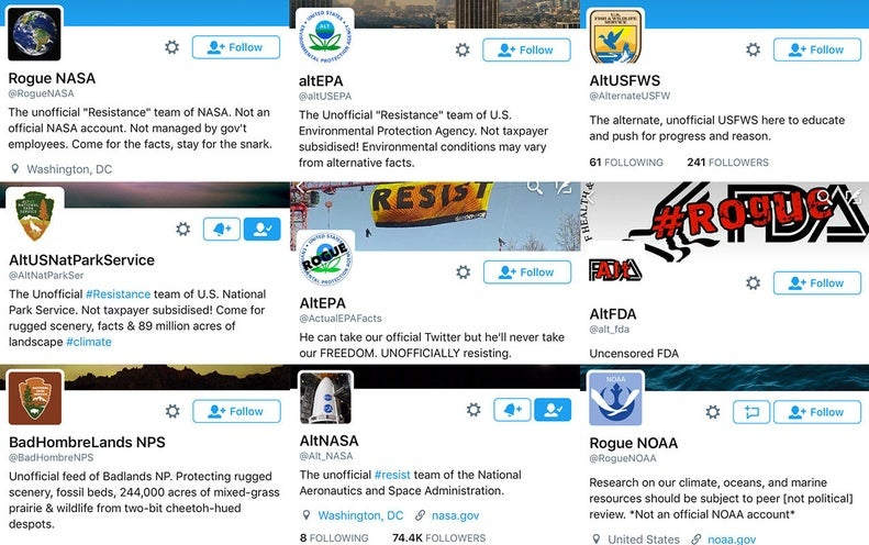 """""""Rogue"""" Science Agencies Defy Trump Administration on Twitter"""