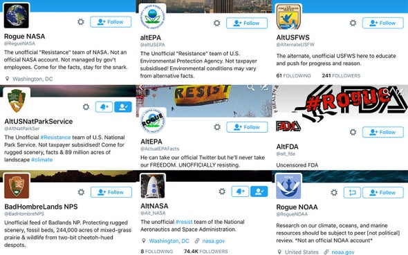 """Rogue"" Science Agencies Defy Trump Administration on Twitter"