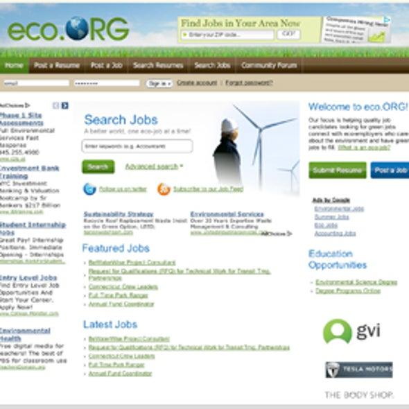 "Finding ""Green Job"" Opportunities"
