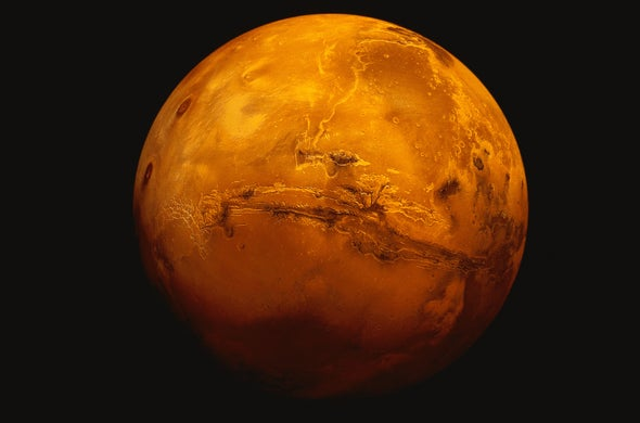 Giant Tsunamis Washed over Ancient Mars