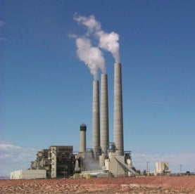 Navajo power plant, coal-fired power plant, smoke stacks