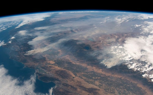 Space Station Crew Photographs Raging California Wildfires