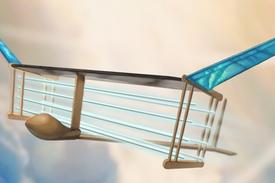 安静和简单的离子发动机驱动飞机没有移动部件