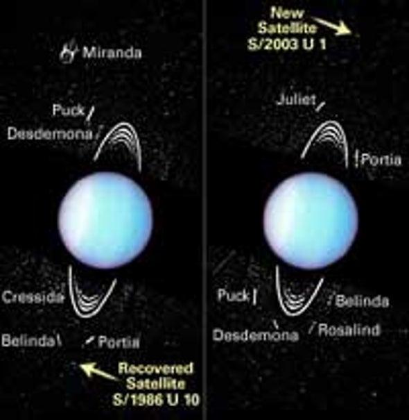 Hubble Glimpses New Moons around Uranus
