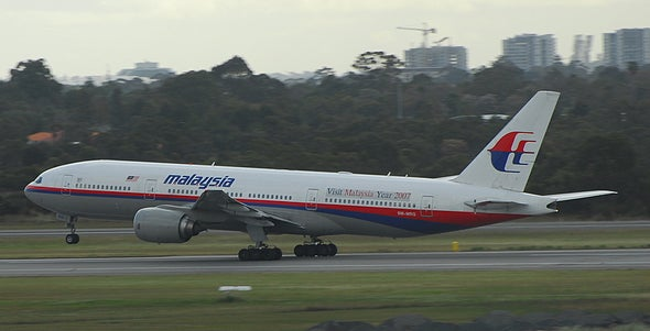 Confirmed: Wing Part Is From Missing Malaysia Airlines Flight