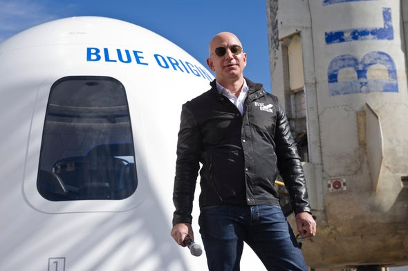 Jeff Bezos Will Go to Space on Blue Origin's First Crewed Flight