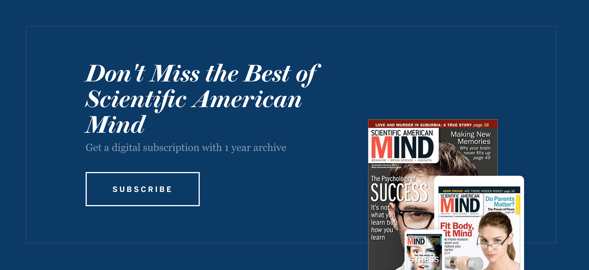Scientific American Mind Subscriptions