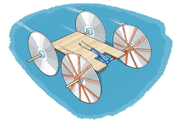 Build A Rubber Band Powered Car Scientific American