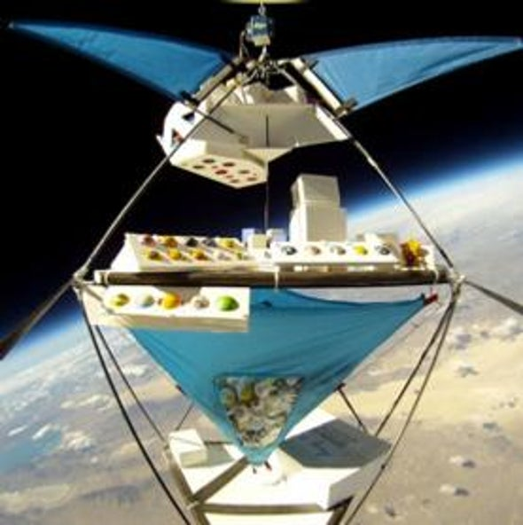 "Ping-Pong Ball ""Satellites"" Have Balloon Ride to Edge of Space"