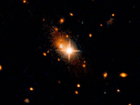 Gravitational Waves Send Supermassive Black Hole Flying