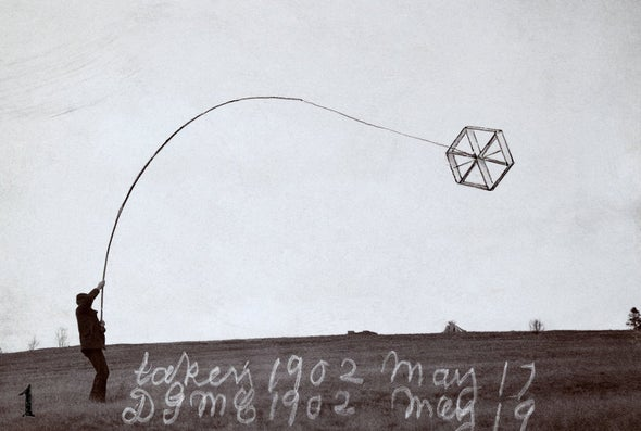 Alexander Graham Bell Goes and Flies a Kite--for Science