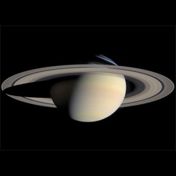 Saturn Is Shaking Its Rings