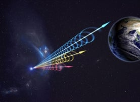 An artist's rendition of a fast radio burst