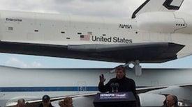 "Leonard Nimoy to Shuttle Enterprise: ""Live Long and Prosper"" in NYC"