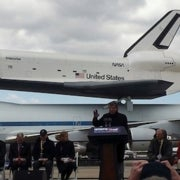 Leonard Nimoy to Shuttle Enterprise: