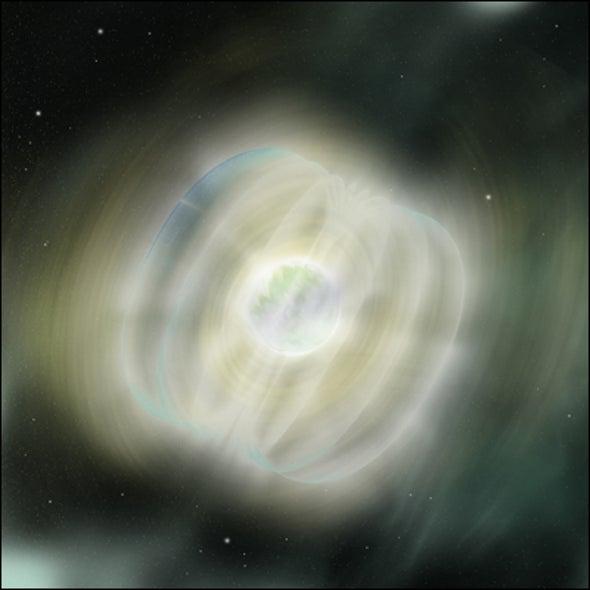 Magnetar Explosion Traced
