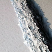 Giant Antarctic Ice Shelf Crack Threatens to Become a Massive Iceberg