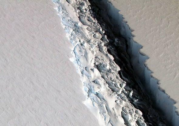 Giant Antarctic Ice Shelf Crack Threatens to Become a Massive Iceberg