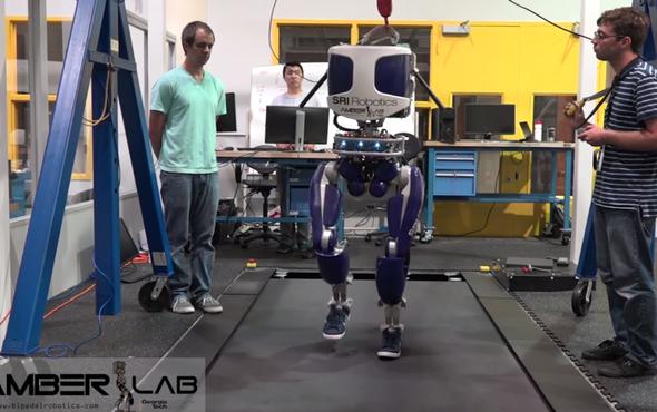 Shoe-Wearing Robot's No Flatfoot--It Walks like a Person