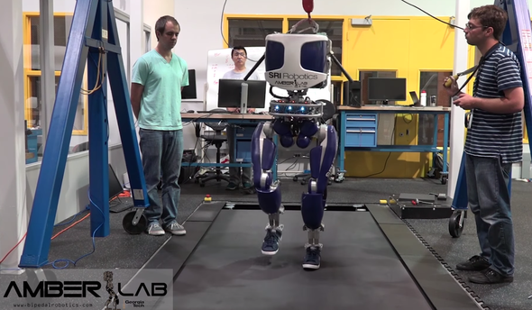Shoe-Wearing Robot's No Flatfoot--It Walks like a Person