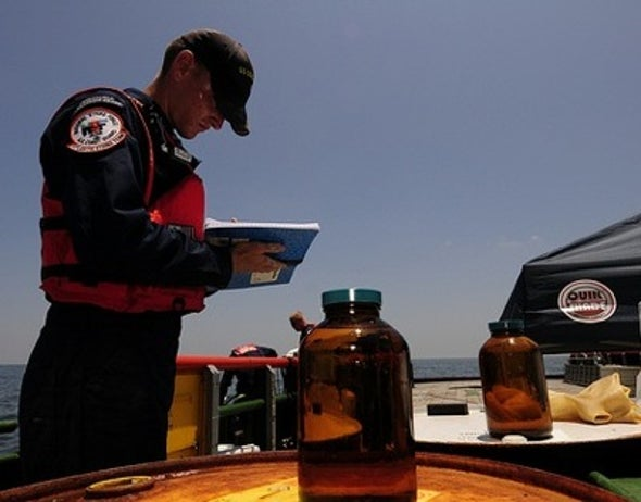 Oil spill's toxic trade-off