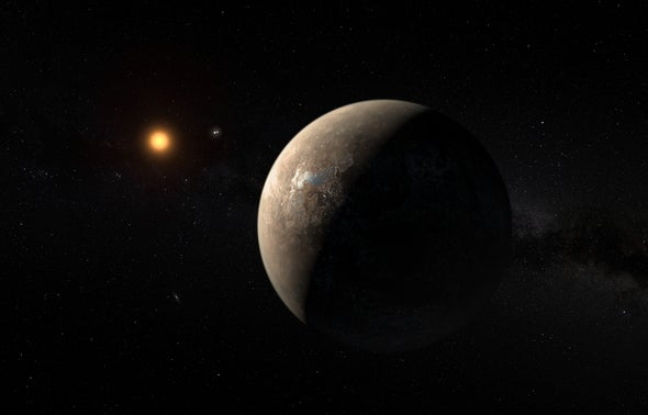 A Second Planet May Orbit Earth's Nearest Neighboring Star