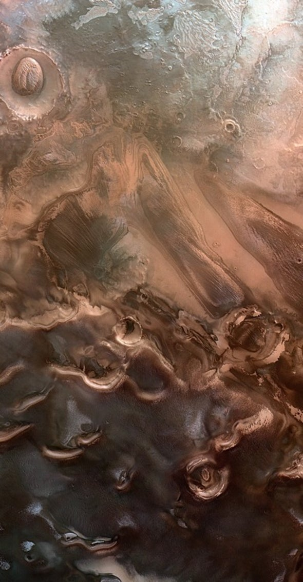 Dunes, Craters and Ice: Just Another Spring on Mars