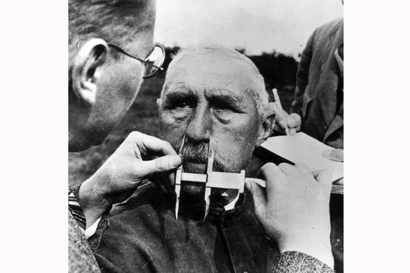 Image result for nazi measuring noses