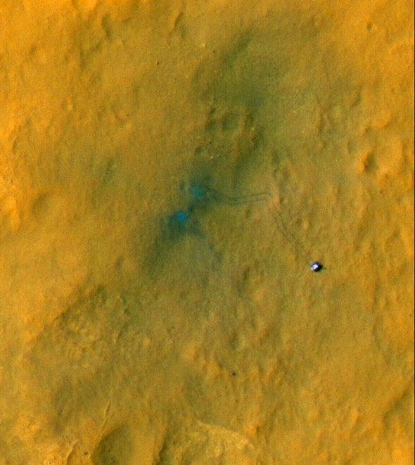 Mars Orbiter Captures Curiosity's Progress