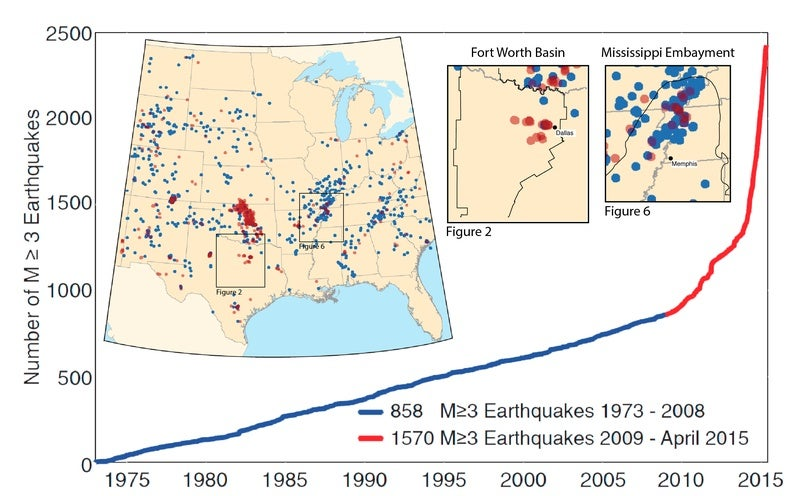 Drilling Reawakens Sleeping Faults In Texas Leads To Earthquakes - Missouri fault line map