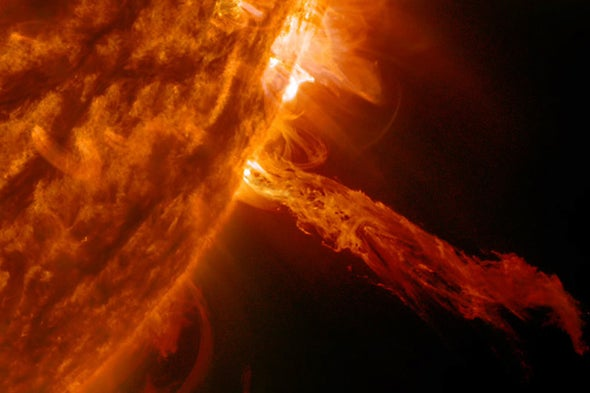 Solar 'Superflares' Rocked Earth Less Than 10,000 Years Ago--and Could Strike Again