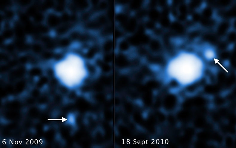 Moon discovered orbiting distant dwarf planet