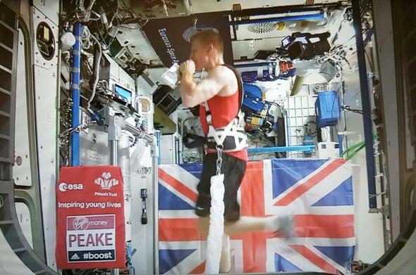 British Astronaut Tim Peake Sets Off-World Record Running Marathon in Space