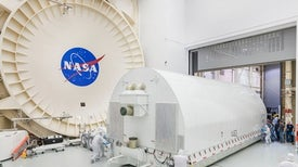 James Webb Space Telescope Surrounded by Rising Floodwaters