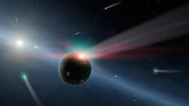 Comet-Blasted Star May Be a Rerun of the Solar System's Birth